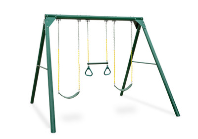 Studio view of Roundabout Swing Set from Plan-It Play.