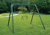 Lifestyle view of Roundabout Swing Set from Plan-It Play.