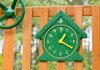 Outdoor view of Fun Time Clock from Plan-It-Play.