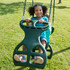 Lifestyle shot with kids of Double Glider Swing from Plan-It-Play.