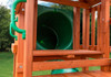 Tube Slide view of Calypso Deluxe Play Set from Plan-It-Play.