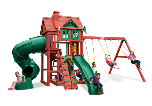 Front view of Nantucket Deluxe Play Set from Plan-It-Play.