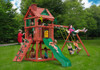 Lifestyle shot of Nantucket II Swing Set Playset from Plan-It-Play