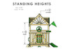 Standing Height view of Nantucket II Swing Set Playset from Plan-It-Play
