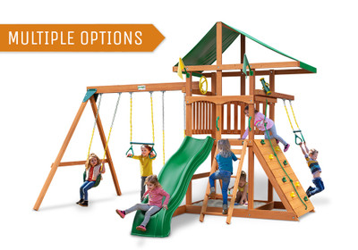 Outing w/ Trapeze Bar Swing Set