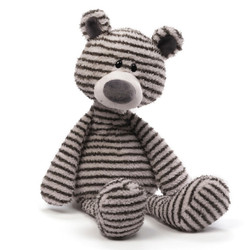 Zag Gray and White Striped Bear