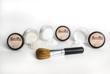 Face Powder Trio with Flawless Face Brush
