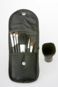 6 Piece Brush Set with Large Kabuki