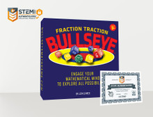BULLSEYE Fraction Traction Board Game - 2nd Edition