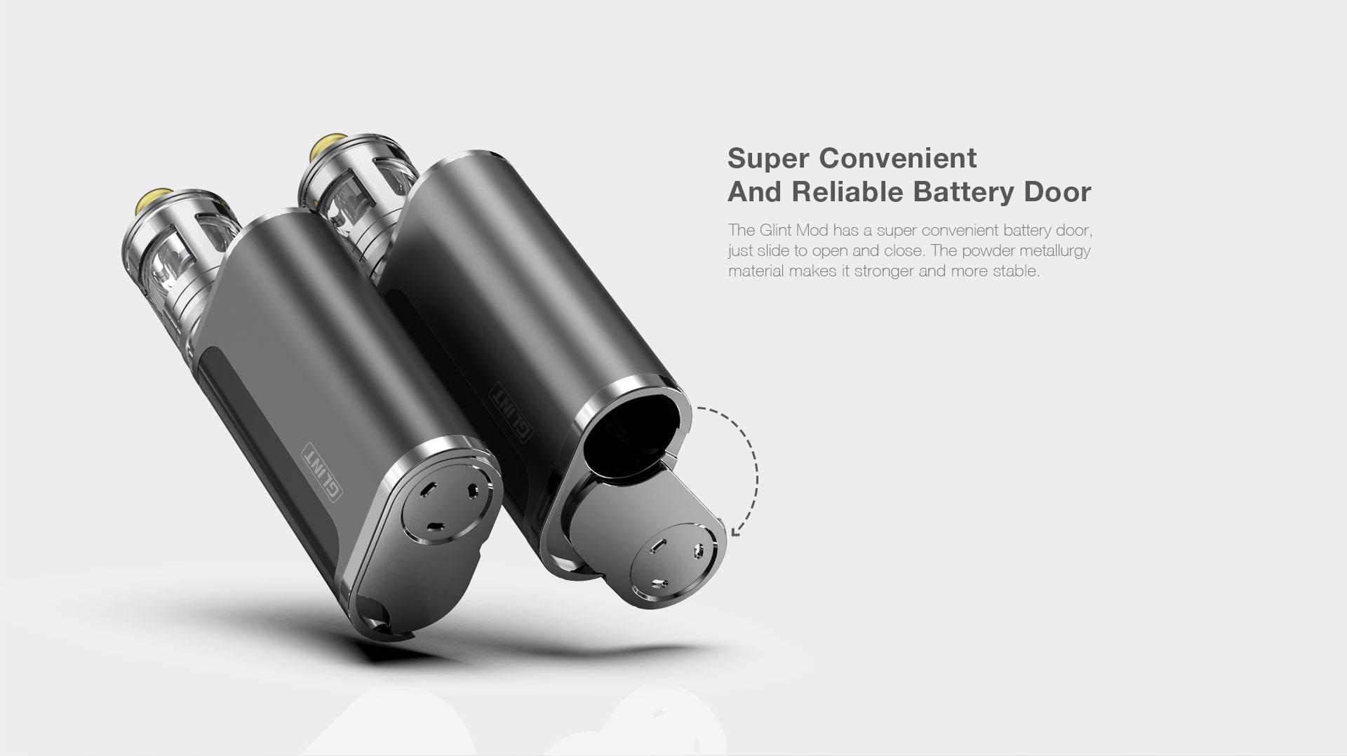 Aspire Glint Mod Convenient And Reliable Battery Door