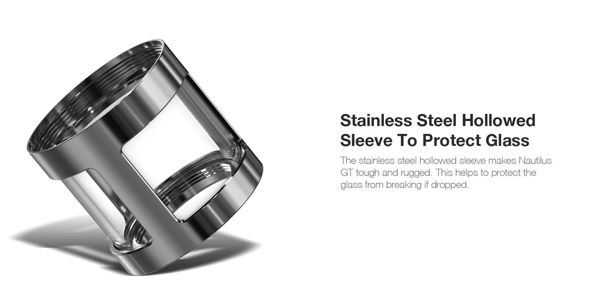 Aspire Nautilus GT Stainless Steel Hollowed Sleeve To Protect Glass
