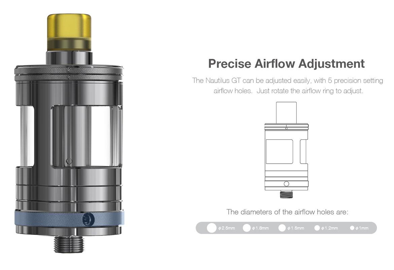 Aspire Nautilus GT Precise Airflow Adjustment
