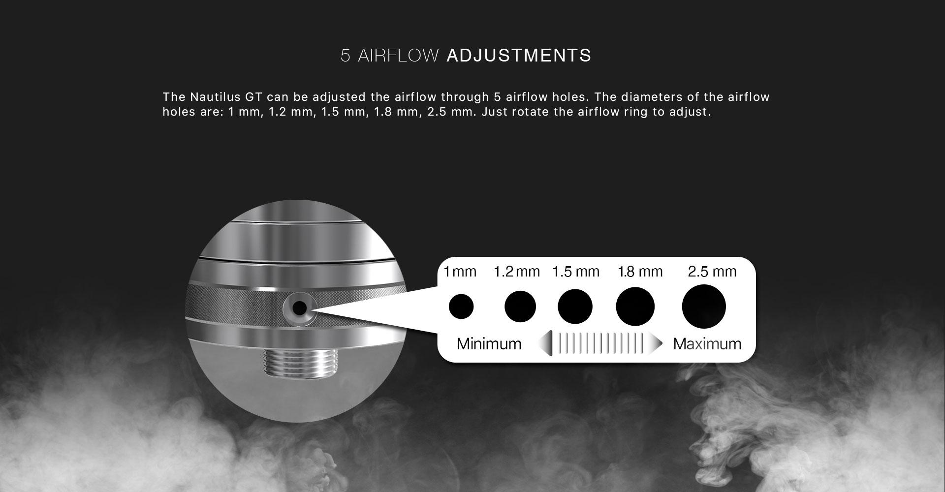 Taifun x Aspire Nautilus GT Tank Air Flow Adjustments
