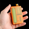 """Odis Collection & Design - """"Billet Box Rev 4 POLISHED Ultem Panels"""" Image is of machine finished version, for placeholder only. Shown with Dee Mods Ultem button and Hellfire Whistle tip attached to a Kurbis (orange) Billet Box Rev 4 (not included in sale), for example only."""