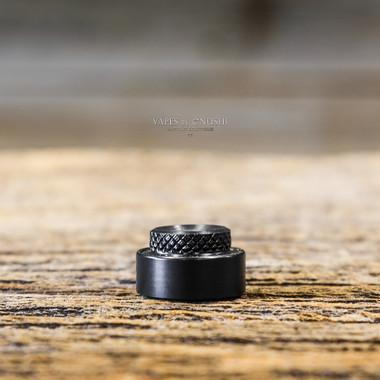 "I'M Infinity Mods x SunBox - ""Cappy V4 RS Kompakt (Ring + Cap)"", Black Delrin"