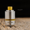 """Steam Tuners - """"T8 Ultem Polished Drip Tip"""" shown attached to Tankit 22 for demonstration."""