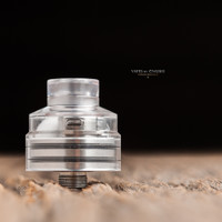 "Bell Vape by Chris Mun - ""Bell Cap for Solo RDA by Dee Mods"" (Drip tip and Solo RDA deck not included in sale. Shown attached for demonstration purposes only)"