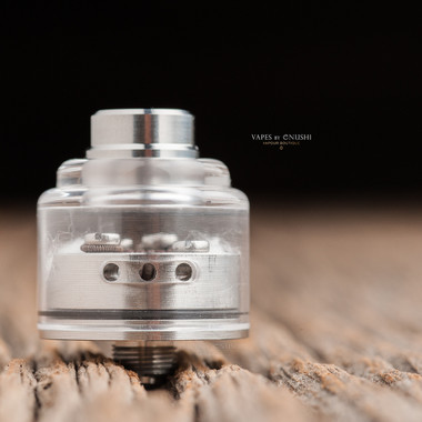 """Bell Vape by Chris Mun - """"Bell Cap for Le Concorde by Vaponaute"""" - Polished. Note: Drip tip and deck are NOT included in sale. Shown for demonstration purposes only."""