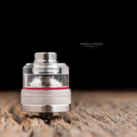 "Bell Vape by Chris Mun - ""Bell Cap for Split Atty by DNV, Polished"". Split Atty, Q Tank, and JMK Bub- Drip Tip are not included in this sale, and are shown attached for demonstration purposes only."