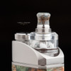 """Bell Vape by Chris Mun - """"Bell Cap for Split Atty by DNV, Polished"""". Split Atty, VapeMonster Drip Tip, and mod are not included in this sale, and are shown attached for demonstration purposes only."""