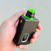 """Nick Ricotta Customs - """"Beauty Ring / Drip Tip Set"""" for Armor RDA, Clear Neon Green"""