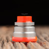"""Nick Ricotta Customs - """"Beauty Ring / Drip Tip Set"""" for Typhon, Clear Neon Orange"""