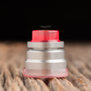 """Nick Ricotta Customs - """"Beauty Ring / Drip Tip Set"""" for Typhon, Clear Neon Pink"""