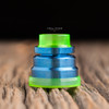 """Nick Ricotta Customs - """"Beauty Ring / Drip Tip Set"""" for Typhon, Clear Neon Green"""