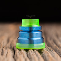 "Nick Ricotta Customs - ""Beauty Ring / Drip Tip Set"" for Typhon, Clear Neon Green"