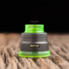 "Nick Ricotta Customs - ""Beauty Ring / Drip Tip Set"" for Armor RDA, Clear Neon Green"