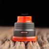 "Nick Ricotta Customs - ""Beauty Ring / Drip Tip Set"" for Armor RDA, Clear Neon Orange"