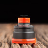 "Nick Ricotta Customs - ""Beauty Ring & 510 Drip Tip Set"", Clear Neon Orange"