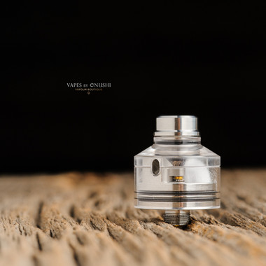"Bell Vape by Chris Mun - ""Bell Cap Slam for Haku Phenom/Cruiser by Haku Engineering"". Shown with drip tip, and Haku deck for demonstration purposes only. This sale is ONLY for the Haku Slam Bell Cap."