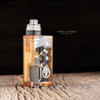 """Proteus Progeks - """"Clear Acrylic Door for SQNK Ultem & Final Breed"""". Shown attached to Beater Ultem mod, with SQUI RDA, SQUI clear acrylic top cap, and Dee Mods bottle for representation only. These items are not included in the sale. This sale is only for the clear acrylic door."""