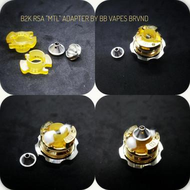 "BB Vapes Brvnd - ""B2K MTL Chamber Reducer Adapter"""