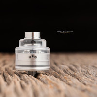 "Bell Vape by Chris Mun - ""Bell Cap for Le Supersonic by Vaponaute"" shown attached to Le Supersonic deck and JMK Bub- drip tip which are NOT included in this sale. This sale is only for the cap."