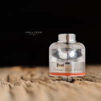 "Bell Vape by Chris Mun - ""Bell Cap for Hussar RDA v1.0 by Hussar Vapes"", Polished. Shown with Hussar RDA deck and JMK Bub- Drip Tip for demonstration purposes only. This sale is ONLY for the Bell Cap."