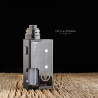 "Proteus Progeks - ""SQNK Beater"" Black Delrin. Shown with Black SQUI RDA attached for demonstration purposes only. This sale is for the mod only, and does NOT include the atomizer."