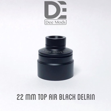 "Dee Mods - ""Top Airflow Cap, 22mm Black Delrin for Solo RDA"""
