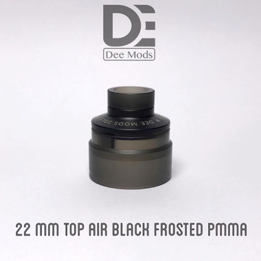 "Dee Mods - ""Top Airflow Cap, 22mm Black Frosted for Solo RDA"""