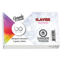 "BO Vaping - ""Slayer by Canada E Clouds BO Cap (3/PK)"""
