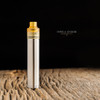 "Ohman Bmods - ""DripStick Reborn 510 Shorty Cap, Amber Ultem"" shown attached to DripStick Reborn along with a drip tip for demonstration purposes only. This sale is ONLY for the 510 Shorty Cap, and does NOT include the mod, deck, nor drip tip."