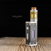 "Taifun - ""GT IV (GT4) Ultem Tank Kit, 3mL"" shown attached to Taifun GT IV base with Golden Nugget drip tip and Taifun Mod for demonstration purposes only. This sale is ONLY for the GT IV 3mL Ultem Tank Kit."