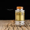 "Taifun - ""GT IV (GT4) Ultem Tank Kit, 3mL"" shown attached to Taifun GT IV base with Golden Nugget drip tip for demonstration purposes only. This sale is ONLY for the GT IV 3mL Ultem Tank Kit."
