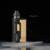"""Vapes by Enushi - """"Enushi Edition 911 x Armor 2.0 Collab"""". Shown with optional wide bore drip tip for demonstration purposes."""