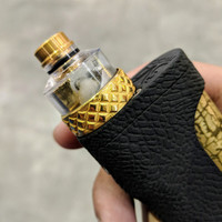 "Bell Vape by Chris Mun - ""Bell SLAM Cap for Monarch RDA by Monarchy Vapes"" shown attached to Monarch deck with drip tip, beauty ring and mod for demonstration purposes only. This sale is ONLY for the Bell SLAM Cap"