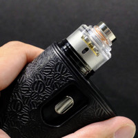 "Bell Vape by Chris Mun - ""Bell Cap for Legacy RDA by Hussar Vapes"". Shown attached to Legacy deck, drip tip, and mod for demonstration purposes only. This sale is ONLY for the Legacy Bell Cap."