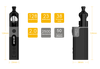 Aspire Zelos 50W Kit Dimensions