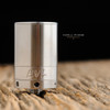 EVL Vapors - Reaper V3 Tank Section, 3mL, Stainless Steel shown attached to a complete Reaper V3 RTA for demonstration purposes. This sale is only for the 3mL SS tank section piece.