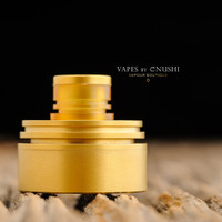 "Hussar Vapes - ""Inverted Torpedo Cap for Hussar RTA and Project X, Satin Gold"""